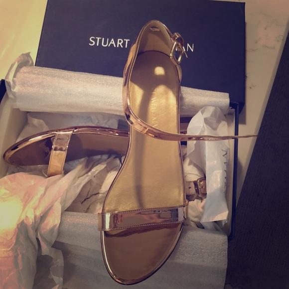 Stuart Weitzman Nudist Flat Sandals